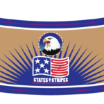 Beer bottle neck label-printing States and Stripes