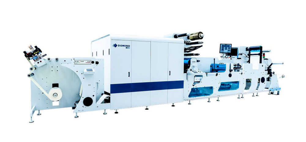 Lombardi digistar inkjet label printing and finishing in a single operation