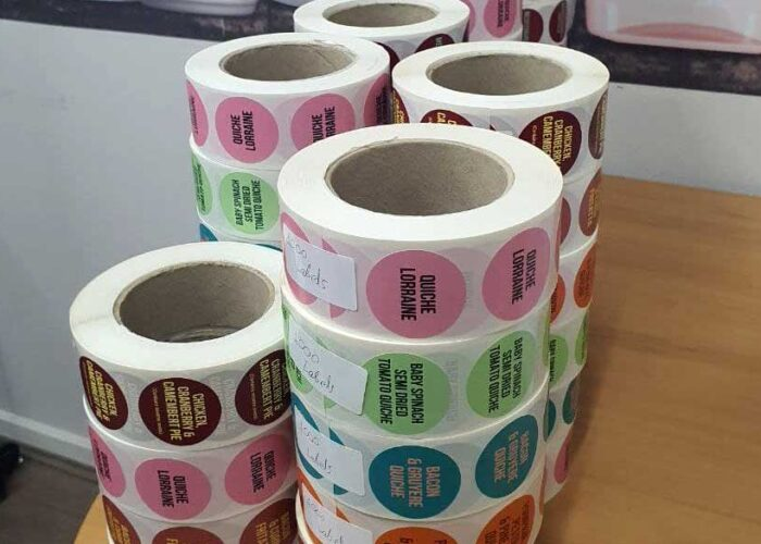 Labels printing for detergent products